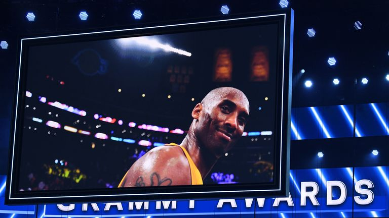 Kobe Bryant is honoured at the Grammys