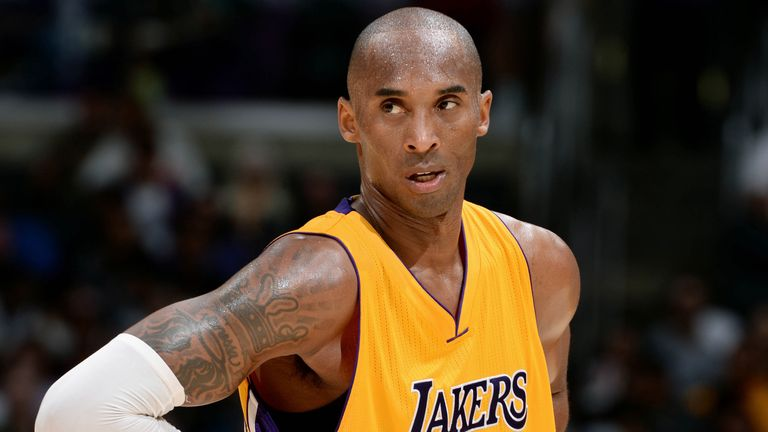 Kobe Bryant in action for the Los Angeles Lakers
