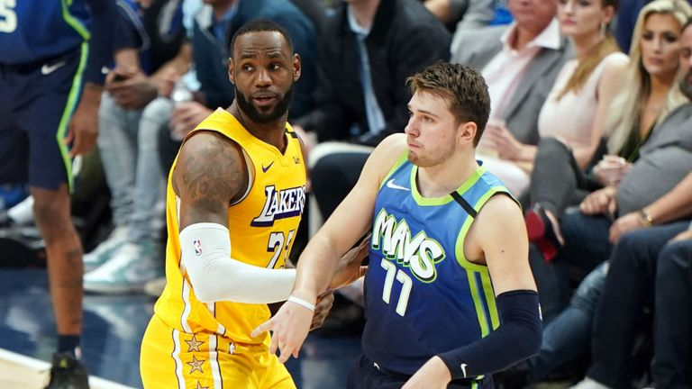 Lebron James and Luka Doncic