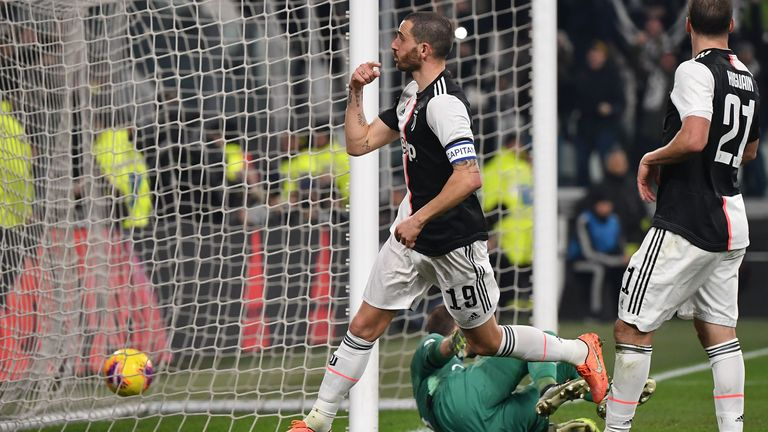 Leonardo Bonucci extended Juventus' lead with a well-taken header