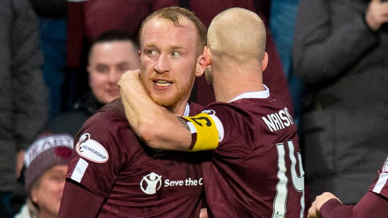 Liam Boyce struck with seven minutes remaining as Hearts beat Rangers
