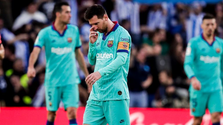 Barcelona have been over-reliant on Lionel Messi's goals this season