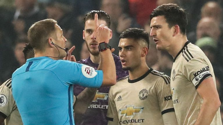 Players will be asked to remain two metres away when talking to match officials