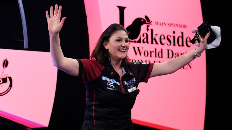 Winstanley is hoping to follow in the footsteps of husband Dean, who hit a nine-darter at the PDC Worlds in 2013