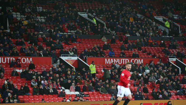 """United We Stand's Andy Mitten says the atmosphere during their 2-0 defeat to Burnley at Old Trafford was """"toxic"""" with Woodward and the Glazer targeted with chants"""