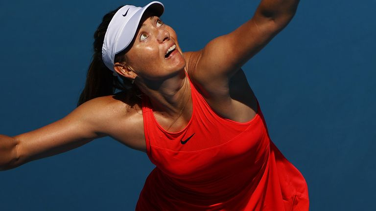 Sharapova cut a disconsolate figure in her post-match press conference