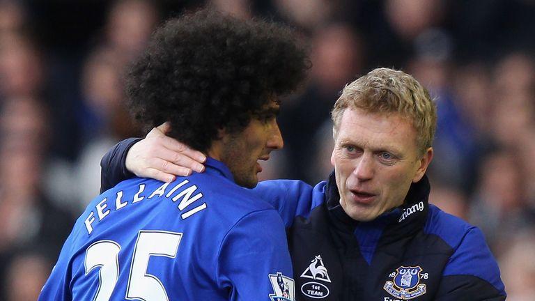 Fellaini spent five seasons at Everton with Moyes