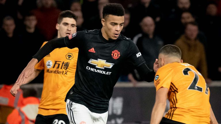 Mason Greenwood against Wolves