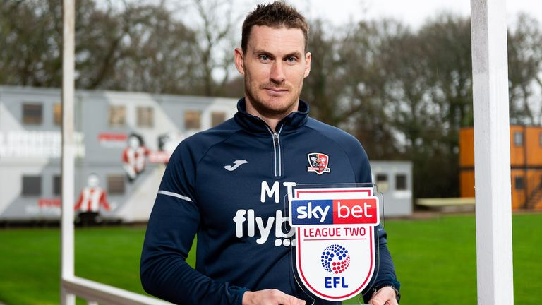 Taylor receives the Sky Bet League Two manager of the month award