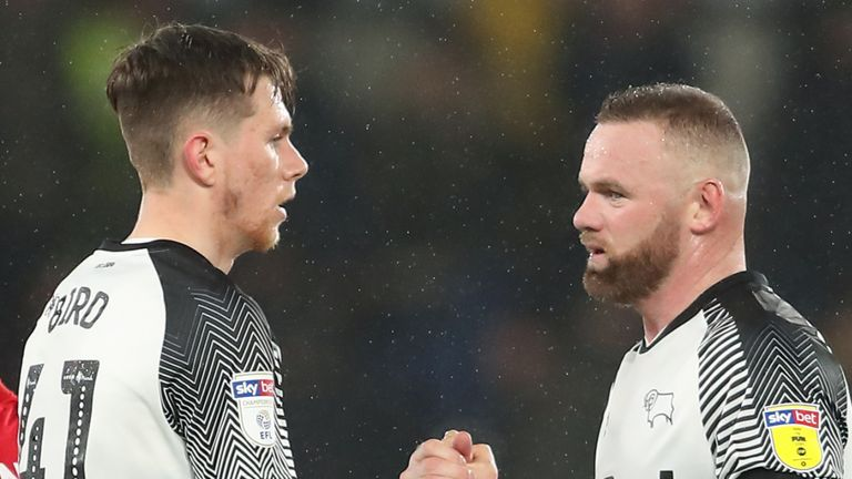 Max Bird played the entire 90 minutes alongside Wayne Rooney in midfield