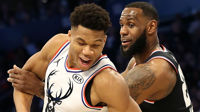 Giannis and LeBron come up against each other in the 2019 NBA All-Star Game