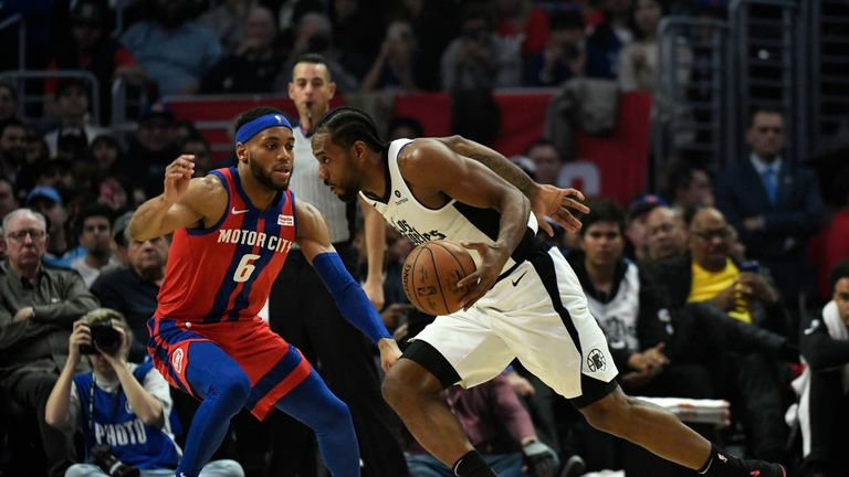 Detroit Pistons against the LA Clippers in Week 11 of the NBA season.
