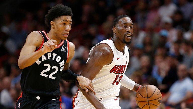 Toronto Raptors against the Miami Heat in Week 11 of the NBA season.