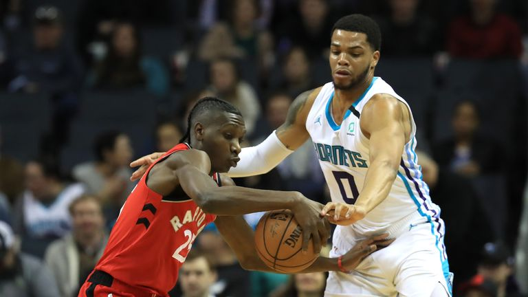 The Toronto Raptors' visit to the Charlotte Hornets in Week 12 of the NBA season.