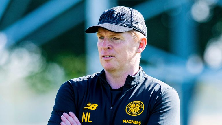 Celtic manager Neil Lennon during a training session on January 08, 2020, in Dubai, United Arab Emirates