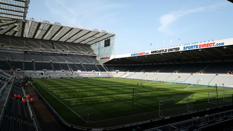 NEWCASTLE UPON TYNE, ENGLAND - APRIL 20: A General view of St James's Park home stadium of Newcastle United during the Premier League match between Newcastle United and Southampton FC at St. James Park on April 20, 2019 in Newcastle upon Tyne, United Kingdom. (Photo by James Williamson - AMA/Getty Images)