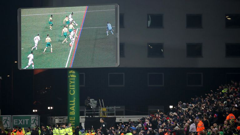 Norwich were once more on the wrong end of a VAR call against Palace