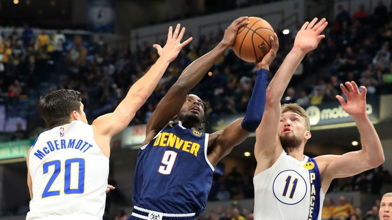 Denver Nuggets against the Indiana Pacers in Week 11 of the NBA season.