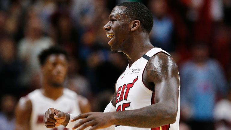 Kenderick Nunn of the Miami Heat