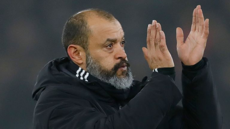 Wolves head coach Nuno Espirito Santo