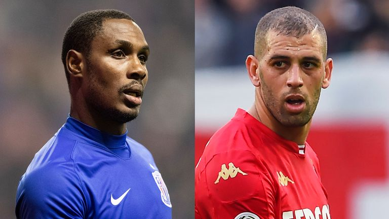 Odion Ighalo and Islam Slimani have been looked at by Manchester United