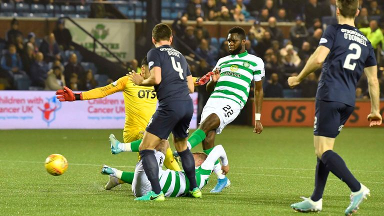 Odsonne Edouard had the chance to break the deadlock when he fired wide