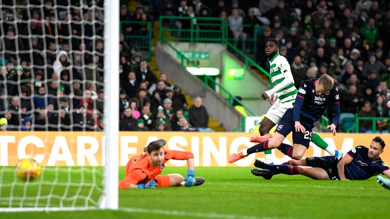 Edouard strokes home Celtic's third against Ross County to settle the game