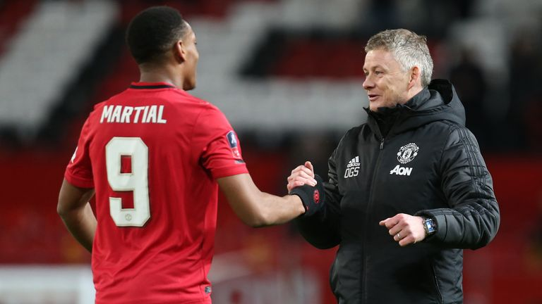 Martial did not train for United on Thursday morning