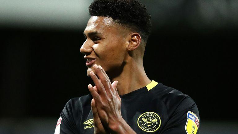 Brentford striker Ollie Watkins