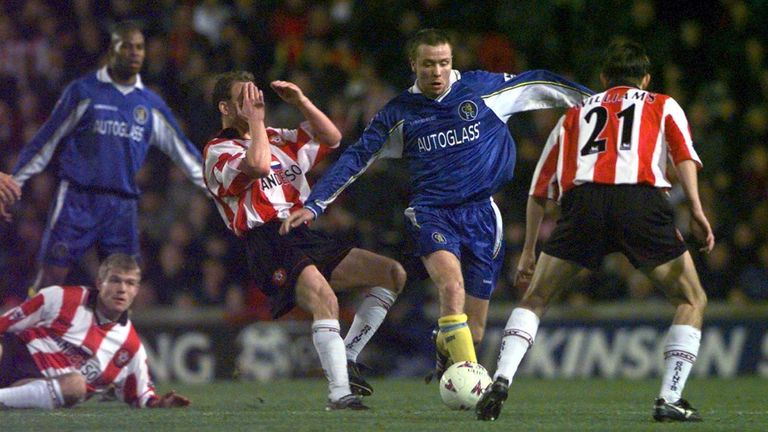 Paul Hughes in action for Chelsea against Southampton