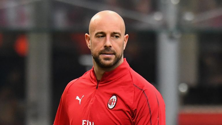 Reina has featured just once this season for AC Milan