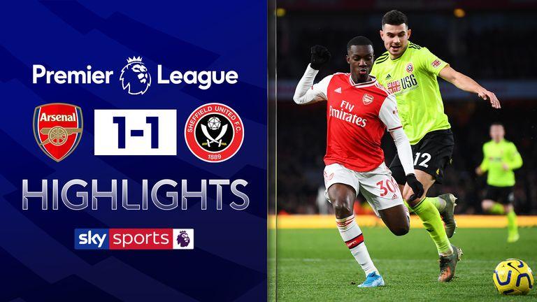 Arsenal v Sheffield United highlights