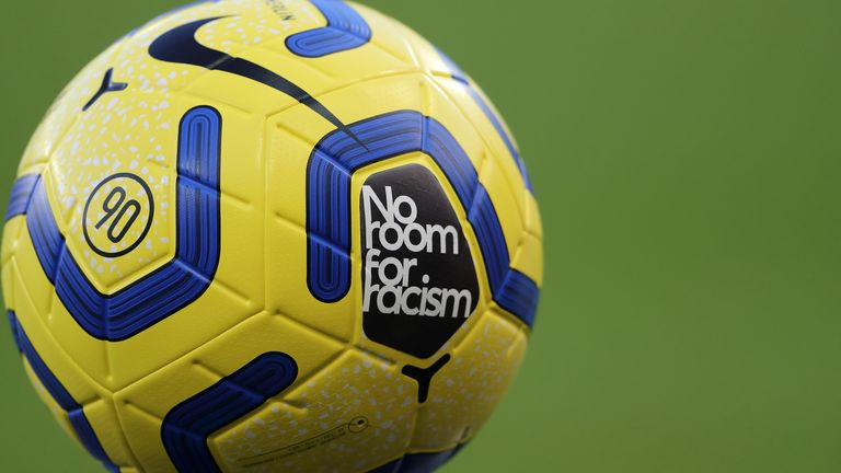 "The Premier League launched its anti-racism campaign called ""No Room For Racism"""