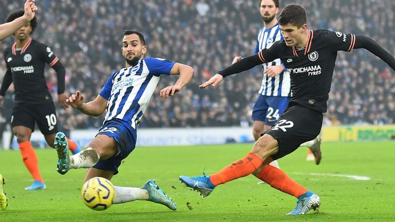 Chelsea were unable to score a second after taking an early lead in their 1-1 draw at Brighton