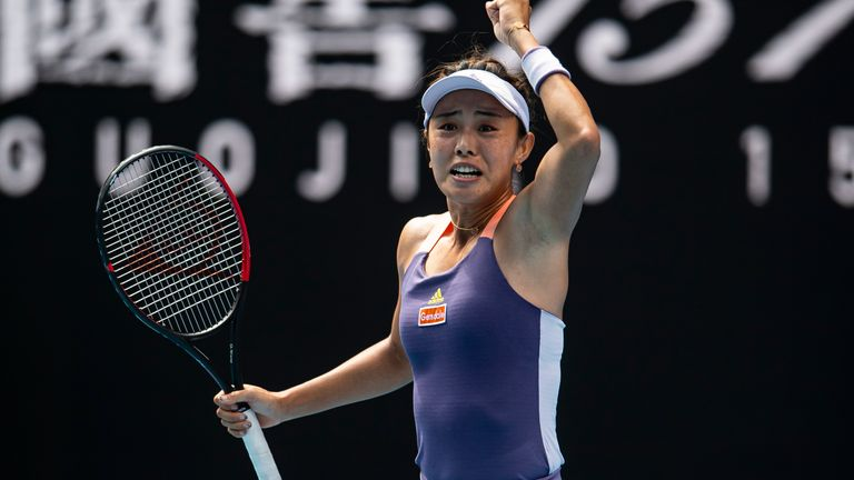 Qiang Wang celebrates the biggest win of her career