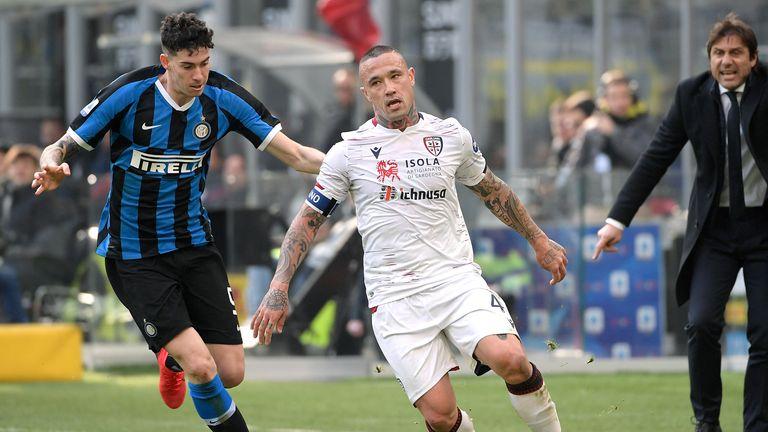 Radja Nainggolan was on the score sheet for Cagliari against Inter Milan