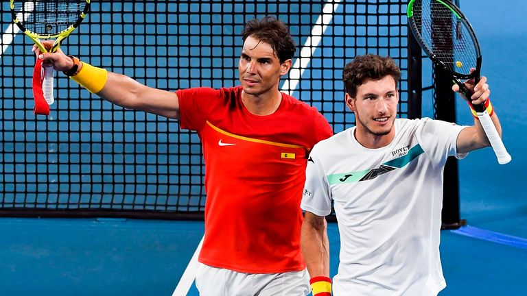 Nadal's Spain face Djokovic's Serbia in ATP Cup decider
