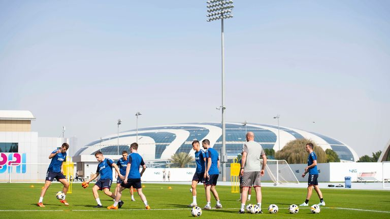 Rangers train in Dubai over the winter break