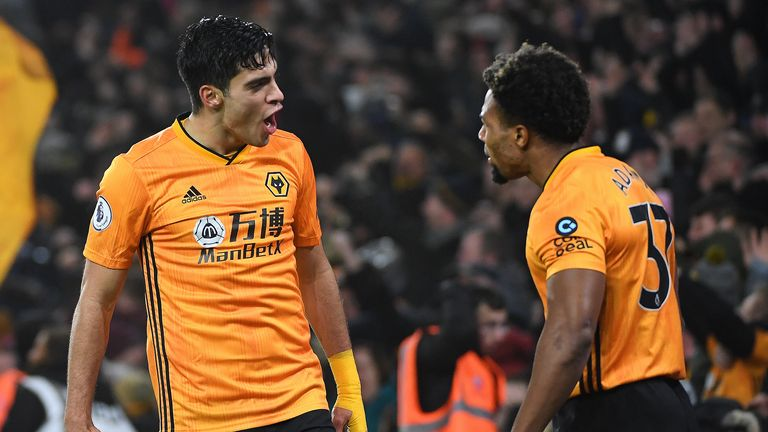Raul Jimenez and Adama Traore linked up to score for the eighth time this season