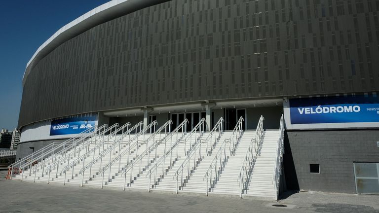 The Olympic Velodrome at the Olympic Park in Rio