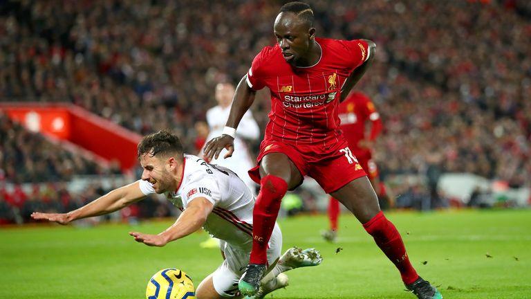 Sadio Mane in action against Sheffield United