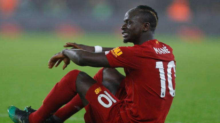 Liverpool forward Sadio Mane was forced off in the first half against Wolves