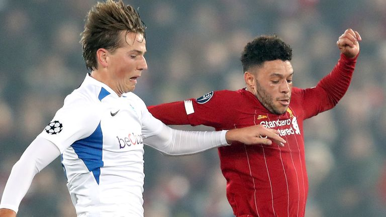 Sander Berge played against Liverpool for Genk in the Champions League