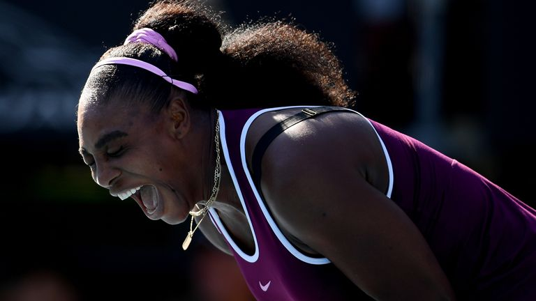The 23-time Grand Slam winner was elated and relieved after  her victory