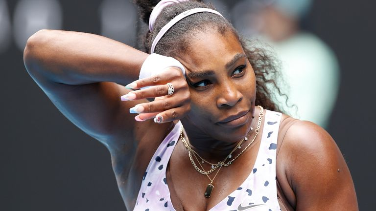 Serena Williams made 56 unforced errors as she exited the Australian Open