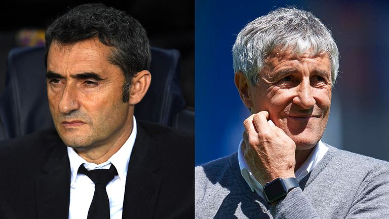 Image result for pic of valverde and setien together