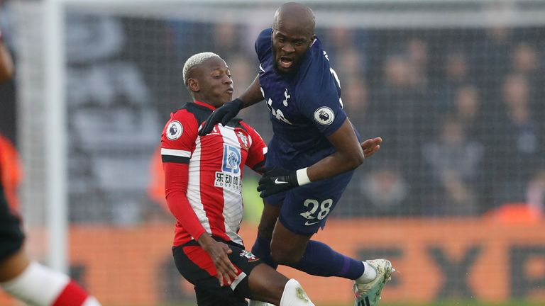 Tanguy Ndombele was also injured in the first half against Southampton