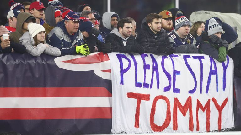 Patriots fan show their desire for Brady to remain in New England