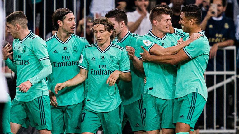 Real Madrid beat Valencia 3-1 in Wednesday's semi-final