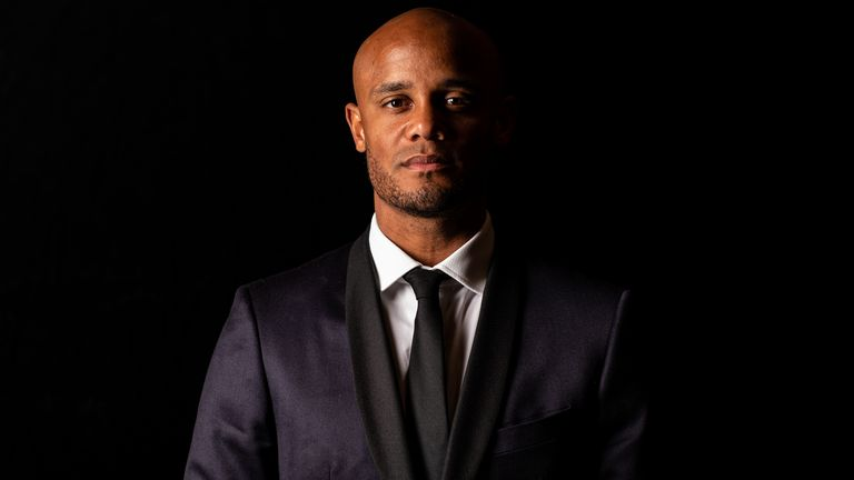 Vincent Kompany poses during the FWA Vincent Kompany tribute dinner at the Savoy Hotel